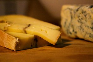morbier and blue cheese